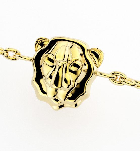 Colgante 4 Salvaje Lion Gold