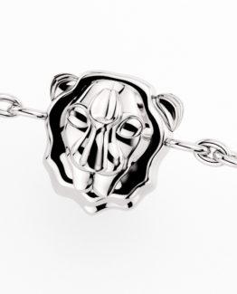 Colgante 4 Salvaje Lion Silver