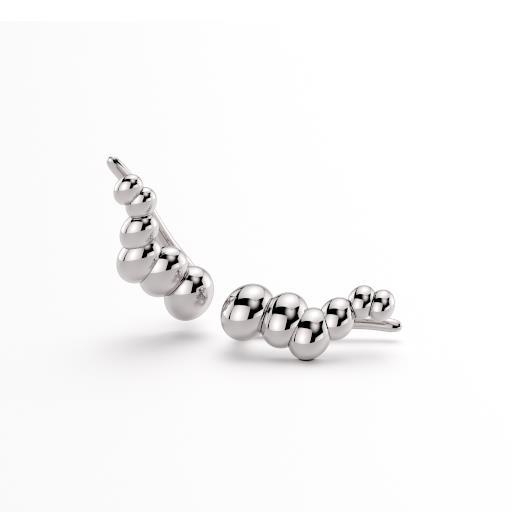 PENDIENTES EAR CUF ELOGIARTE silver